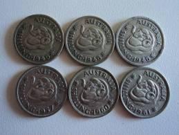 AUSTRALIA - LOTTO  MONETE VARI ANNI (3X1946,1957,1960 E 1961) - Australia