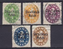 ## Germany 1920 Mi. 34-35, 37-39 Dienstmarken Von Bayern Overprinted Deutsches Reich - Officials