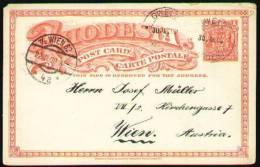 RHODESIA 1909 - ENTIRE POSTAL CARD Of 1d From GWELO (today GWERU) To Wien, Austria - Südrhodesien (...-1964)