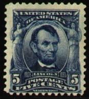 UNITED STATES 1903 - The 5c LINCOLN Of The Regular Issue, Unused (no Gum) - Etats-Unis