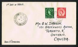 1952  Queen Elizabeth Definitives On FDC To Canada - FDC