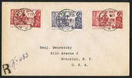 1939  Exposition Internationale De New York Sur Lettre Recommandée Pour Les USA  Yv 189 X 2, 190 - Lettres & Documents