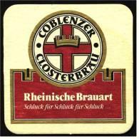 Bierdeckel  Coblenzer Closterbräu  -  Rheinische Brauart  -  Schluck Für Schluck Für Schluck - Sous-bocks