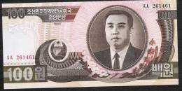 KOREA NORTH  P43a 100  WON 1992 Wmk=3/4 View     UNC. - Corea Del Nord
