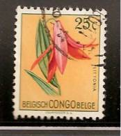 CONGO BELGE  FLEURS    OBLITERE - Congo Belge