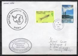 British Antartic Territory - Lettre - RRS John Biscoe - 1990 - Territoire Antarctique Britannique  (BAT)