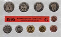 Deutschland 1995 Prägeanstalt G Stg 330€ Stempelglanz Kursmünzensatz Der Staatlichen Münze Karlsruhe Set Coin Of Germany - [ 7] 1949-…: BRD