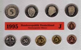 Deutschland 1995 Prägeanstalt J Stg 330€ Stempelglanz Kursmünzensatz Der Staatlichen Münze Hamburg Set Coin Of Germany - [ 7] 1949-…: BRD