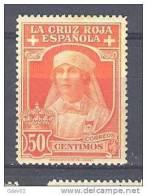 ES334-A621TCPSO.Spain  Espagne.Reina Victoria.Enfermera.CRUZ  ROJA ESPAÑOLA 1926 (Ed 334*) Con Leve Charnela MAGNIFICO - Profesiones