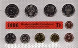 Deutschland 1996 Prägeanstalt D Stg 50€ Stempelglanz Im Kursmünzensatz Der Staatlichen Münze München Set Coin Of Germany - Ongebruikte Sets & Proefsets