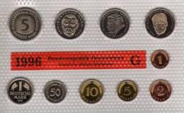 Deutschland 1996 Prägeanstalt G Stg 50€ Stempelglanz Kursmünzensatz Der Staatlichen Münze Karlsruhe Set Coin Of Germany - [ 7] 1949-…: BRD