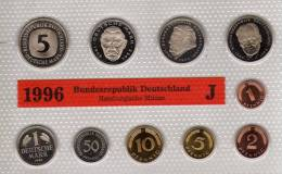 Deutschland 1996 Prägeanstalt J Stg 50€ Stempelglanz Kursmünzensatz Der Staatlichen Münze In Hamburg Set Coin Of Germany - Ongebruikte Sets & Proefsets