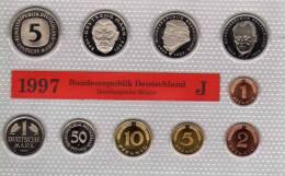 Deutschland 1997 Prägeanstalt J Stg 35€ Stempelglanz Kursmünzensatz Der Staatlichen Münze In Hamburg Set Coin Of Germany - Ongebruikte Sets & Proefsets