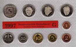 Deutschland 1997 Prägeanstalt G Stg 35€ Stempelglanz Kursmünzensatz Der Staatlichen Münze Karlsruhe Set Coin Of Germany - Ongebruikte Sets & Proefsets