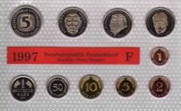 Deutschland 1997 Prägeanstalt F Stg 35€ Stempelglanz Kursmünzensatz Der Staatlichen Münze Stuttgart Set Coin Of Germany - Ongebruikte Sets & Proefsets