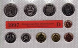 Deutschland 1997 Prägeanstalt D Stg 35€ Stempelglanz Kursmünzensatz Der Staatlichen Münze In München Set Coin Of Germany - Ongebruikte Sets & Proefsets