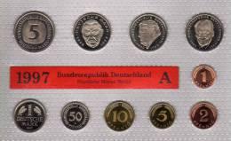 Deutschland 1997 Prägeanstalt A Stg 35€ Stempelglanz Kursmünzensatz Der Staatlichen Münze In Berlin Set Coin Of Germany - Ongebruikte Sets & Proefsets