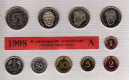 Deutschland 1998 Prägeanstalt A Stg 35€ Stempelglanz Kursmünzensatz Der Staatlichen Münze In Berlin Set Coin Of Germany - Ongebruikte Sets & Proefsets