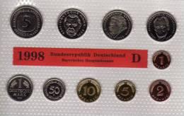 Deutschland 1998 Prägeanstalt D Stg 35€ Stempelglanz Kursmünzensatz Der Staatlichen Münze In München Set Coin Of Germany - [ 7] 1949-…: BRD