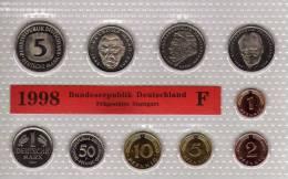 Deutschland 1998 Prägeanstalt F Stg 35€ Stempelglanz Kursmünzensatz Der Staatlichen Münze Stuttgart Set Coin Of Germany - Ongebruikte Sets & Proefsets