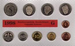 Deutschland 1998 Prägeanstalt G Stg 35€ Stempelglanz Kursmünzensatz Der Staatlichen Münze Karlsruhe Set Coin Of Germany - Ongebruikte Sets & Proefsets