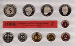 Deutschland 1998 Prägeanstalt J Stg 35€ Stempelglanz Kursmünzensatz Der Staatlichen Münze In Hamburg Set Coin Of Germany - Ongebruikte Sets & Proefsets