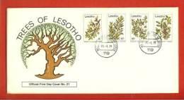 LESOTHO 1979 FDC Trees Of Lesotho 266-269 - Trees