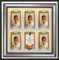 LESOTHO 1982 MNH Sheet Diana 400-401 F1826 - Royalties, Royals