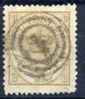 DENMARK 1868  Royal Insignia 8 Sk. Used.  Michel 14A - 1864-04 (Christian IX)
