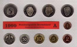 Deutschland 1999 Prägeanstalt A Stg 35€ Stempelglanz Kursmünzensatz Der Staatlichen Münze In Berlin Set Coin Of Germany - [ 7] 1949-…: BRD