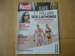 PARIS MATCH 3296- KATE ET WILLIAM SEULS AU MONDE- VALERIE TRIERWEILER- - Algemene Informatie
