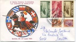 ITALIA - FDC DOPOLAVORO FERROVIARIO BARLETTA 1980 - QUARTA MOSTRA FILATELICA - FDC