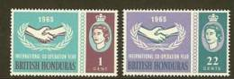 BR. HONDURAS 1965 MNH Stamp(s) Int. Co-op. 188-189 - Organizations