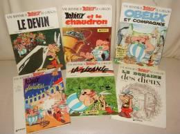 Lot De 6 BD ASTERIX Editeur DARGAUD 1972 1975 Et 1976 - Astérix