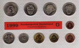 Deutschland 1999 Prägeanstalt G Stg 35€ Stempelglanz Kursmünzensatz Der Staatlichen Münze Karlsruhe Set Coin Of Germany - [ 7] 1949-…: BRD
