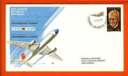RSA 1-4-77 Airway Cover 16a JHB - Durban - Airplanes