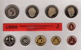 Deutschland 1999 Prägeanstalt J Stg 35€ Stempelglanz Kursmünzensatz Der Staatlichen Münze In Hamburg Set Coin Of Germany - [ 7] 1949-…: BRD