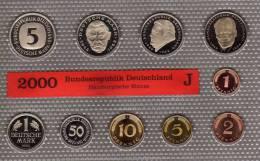 Millenium-Satz Deutschland 2000 Prägeanstalt J Stg 45€ Stempelglanz Der Staatlichen Münze In Hamburg Set Coin Of Germany - [ 7] 1949-…: BRD