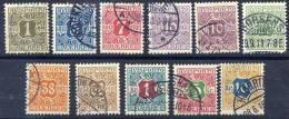 DENMARK 1907 Newspaper Stamps Set Used.   Michel 1-10X - 1905-12 (Frederik VIII)