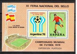 """Spagna   -   1978.  Expo Filatelica  Per  Mondiale  """" Argentina '78 """" .  Logo  E  Calciatore.  MNH, Perfetto - Coppa Del Mondo"""