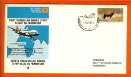 RSA 3-8-76 Airway Cover 8B JHB - Frankfurt - Airplanes