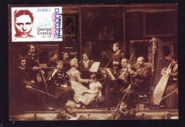 GEORGE ENESCU,COMPOSER,VIOLIN,MUSICIEN 2005 OBLITERATION FDC,CM,MAXICARD,CARTES MAXIMUM ,ROMANIA. - Musique