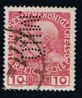 Österreich 1908, Michel # 144 O Mit Perfin - 1850-1918 Empire