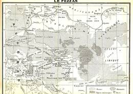 ALGERIE COLONIALE- CARTE GEOGRAPHIQUE DU FEZZAN-1948 - Cartes Géographiques