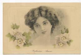 Belle Femme Langage  Fleur  Eglantier Amour Dessin Viennoise - Women