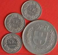 SWITZERLAND           -  4 COINS  (871) - Swasiland
