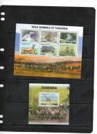 TANZANIA,2010,WILDLIFE DEFINITIVES,LIONS,HIPPOS, BUFFALO, PRIMATES, ZEBRAS, ETC 11v+SHEETLET+ S/SHEET, MNH, - Postzegels