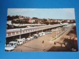 CPSM 30 ALES La Gare Routiere(vieux Bus Autocars) - Alès