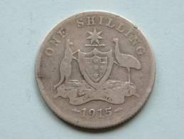 1915 - ONE SHILLING / KM 26 ( Uncleaned - For Grade, Please See Photo ) ! - Monnaie Pré-décimale (1910-1965)