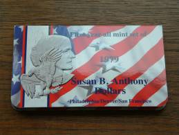 FOLDER (3) SUSAN B. ANTHONY 1979 D - P - S / ORIGINAL - KM ? ( For Grade, Please See Photo ) ! - 1979-1999: Anthony